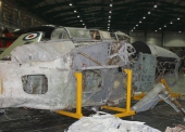 The Barracuda project's forward fuselage before restoration