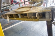 The restored starboard undercarriage torsion box – just about all original