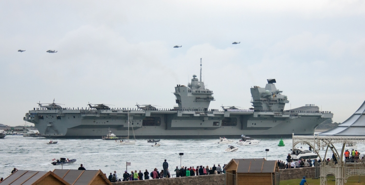 HMS QE visiting Portsmouth for the first time