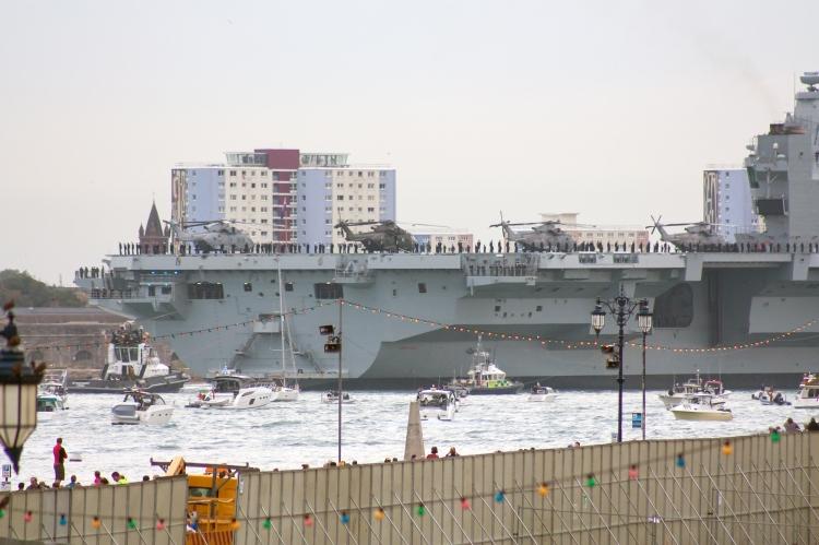 Merlins Mk2 and Mk3 on deck HMS QE